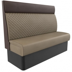 Supreme Quilted Kansas Deluxe High Back Booth Seating 1500mm Nobis Restaurant furniture