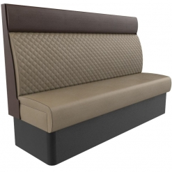 Supreme Quilted Kansas Deluxe High Back Booth Seating 1800mm Nobis Restaurant furniture