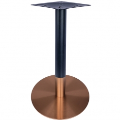 Black and Rose Gold Steel Round Table Base