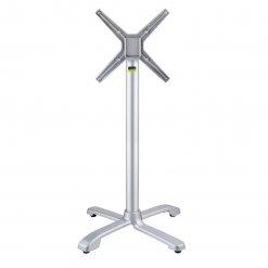 Ferrara Self leveling Outdoor Fliptop Aluminium Table base - Silver- Poseur Height