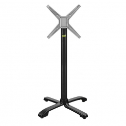 Ferrara Self leveling Outdoor Fliptop Aluminium Table base - Black - Poseur Height