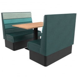 Supreme Horizon High Back –Complete 4 Seater Free standing booth set 1200mm wide Nobis restaurant furniture