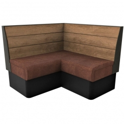 Supreme Plank Booth Seating Standard Height - Corner Free Standing - 1200mm x 1200mm