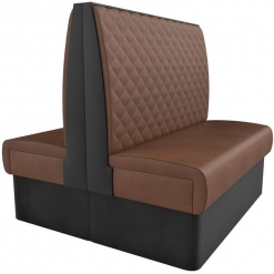 Supreme Quilted Kansas High Back -back to back Booth Seating- 1200mm Nobis Restaurant furniture