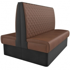 Supreme Quilted Kansas High Back -back to back Booth Seating- 1500mm Nobis Restaurant furniture