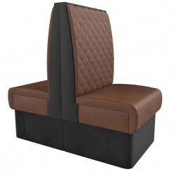 Supreme Quilted Kansas High Back -back to back Booth Seating- 600mm Nobis Restaurant furniture