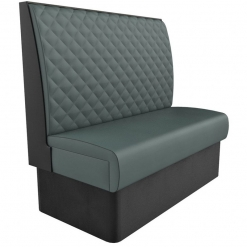 Supreme Quilted Kansas High Back freestanding Booth Seating- wide 1200mm Nobis Restaurant furniture