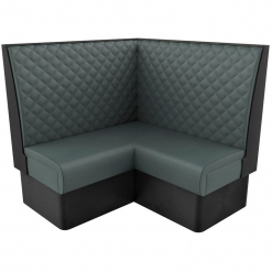 Supreme Quilted Kansas High back – Corner Free Standing Booth Seating – 1200mm x 1200mm nobis restaurant furniture