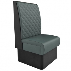 Supreme Quilted Kansas high back freestanding Booth Seating- wide 600mm Nobis Restaurant furniture
