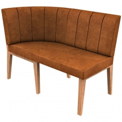 Simplicity Distressed Full Back - Corner End Right Hand Rounded Free Standing Booth Seating - 1200mm Wide