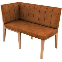 Simplicity Distressed Full Back - Corner End Right Hand Free Standing Booth Seating - 1200mm Wide