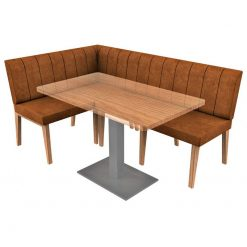 Simplicity Distressed Full Back - Right Hand Corner Free Standing Booth Seating - 1800mm x 1200mm