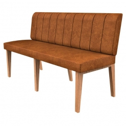 Simplicity Distressed Full Back - Straight Free Standing Booth Seating - 1500mm Wide