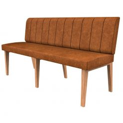 Simplicity Distressed Full Back - Straight Free Standing Booth Seating - 1650mm Wide