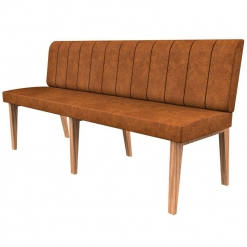 Simplicity Distressed Full Back - Straight Free Standing Booth Seating - 1800mm Wide