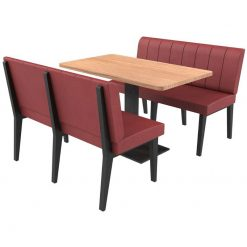 Simplicity Urban Full Back - Complete 4 Seater Free Standing Booth Set - 1200mm Wide