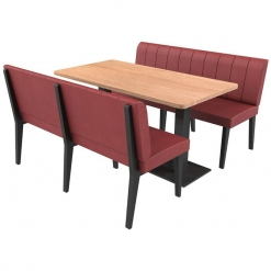 Simplicity Urban Full Back - Complete 6 Seater Free Standing Booth Set - 1500mm Wide