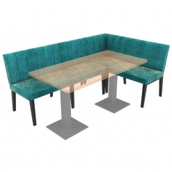 Simplicity Urban Full Back - Corner Left Hand Free Standing Booth Seating - 2100mm x 1350mm Wide