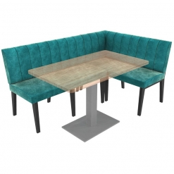 Simplicity Urban Full Back - Corner Left Hand Free Standing Booth Seating - 1800mm x 1200mm Wide
