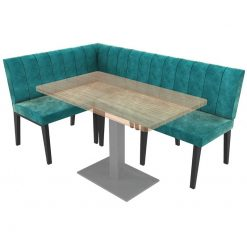 Simplicity Urban Full Back - Right Hand Corner Free Standing Booth Seating - 1800mm x 1200mm