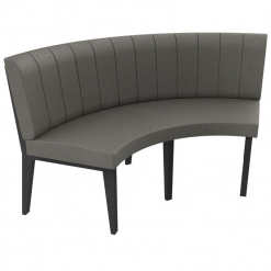 Simplicity Urban Full back- 2 Seater Curved Free Standing Booth - Large 1/4 Circle