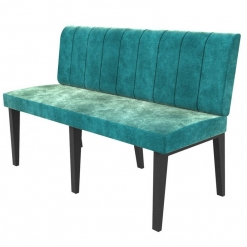 Simplicity Urban Full Back - Straight Free Standing Booth Seating - 1350mm Wide