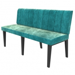 Simplicity Urban Full Back - Straight Free Standing Booth Seating - 1500mm Wide