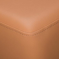 Ochre Brown Faux Leather